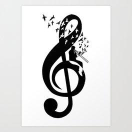 Treble Clef -  Trombone Art Print