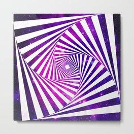 Hypnotic galaxy Purple Metal Print