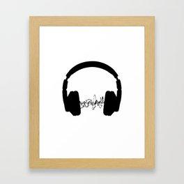 Headphones Framed Art Print