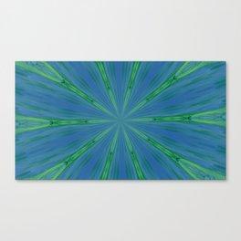 Green Warp design Canvas Print