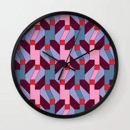 Pixel Weave Wall Clock