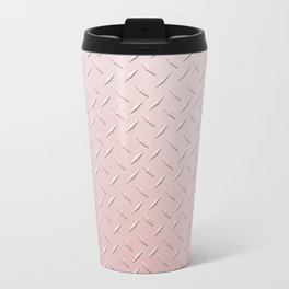 Diamond Plate Pink Travel Mug
