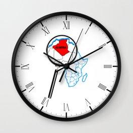 Algeria Magnifying Glass Wall Clock