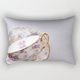 Grey Teacup Rectangular Pillow