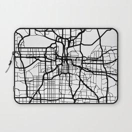 KANSAS CITY MISSOURI BLACK CITY STREET MAP ART Laptop Sleeve