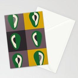 Avocado print Stationery Cards