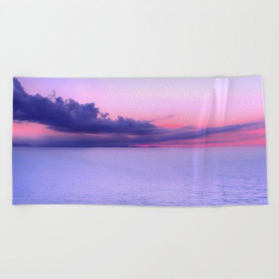 Sunset Indigo Mood Beach Towel