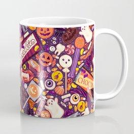 Creepy Halloween Candy on Purple Coffee Mug