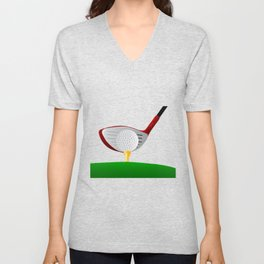 Teeing Off Golf Unisex V-Neck
