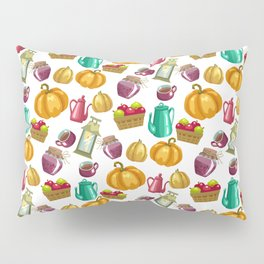 Autumn  Pattern with Food and Drink and Lamp Pillow Sham