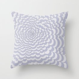 Snake Spider Blue and White Striped Throw Pillow