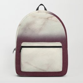marble and purple Backpack