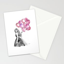 Balloons Pink Stationery Cards