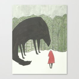 little red big wolf Canvas Print