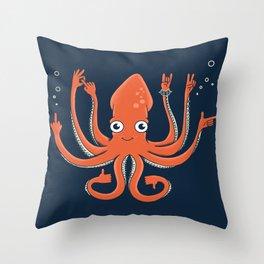 Octopus Signals Throw Pillow