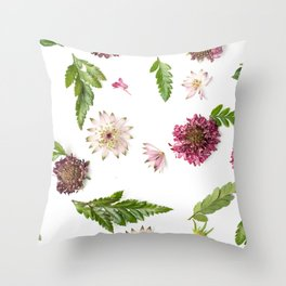 Scattered Blooms Throw Pillow