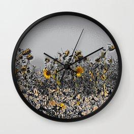 Sunflowers in the Camino de Santiago Wall Clock