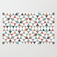 hexagon Area & Throw Rugs featuring Hexagon by Pavel Saksin