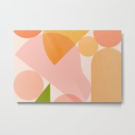 Abstraction_SHAPES_COLOR_Minimalism_002 Metal Print