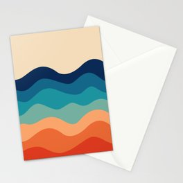 Retro 70s Waves Stationery Cards