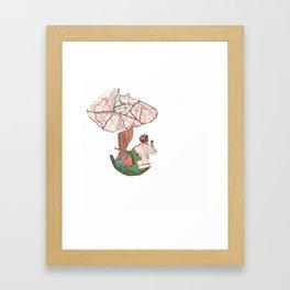 Mushroom man tree Framed Art Print