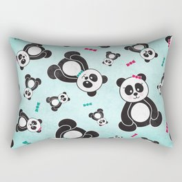 Panda Freefall Rectangular Pillow