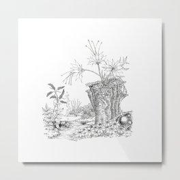 Quiet Conversation Metal Print