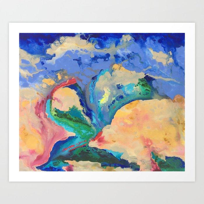 Watercolor Series (Exploding Flower) Art Print