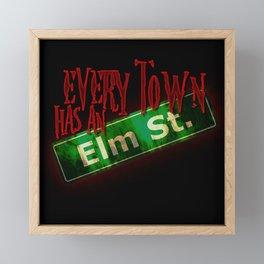 Every Town Elm Street Framed Mini Art Print