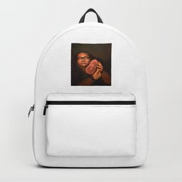 Danny DeVito with his beloved ham Rucksack