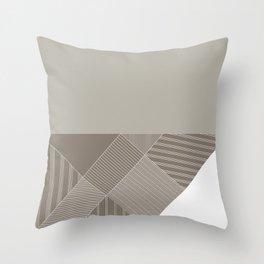 Minimal Trangles Beige Throw Pillow