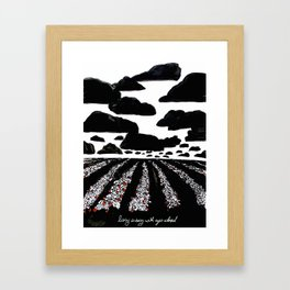 strawberry field Framed Art Print
