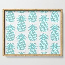 Retro Mid Century Modern Pineapple Pattern 731 Turquoise Serving Tray