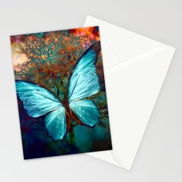 The Blue butterfly Stationery Cards