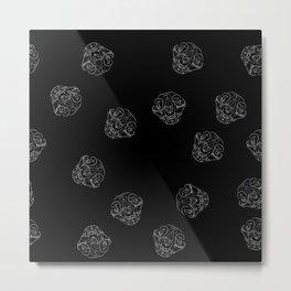 Cat skulls with black background Metal Print