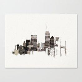 unfinished skyline Canvas Print