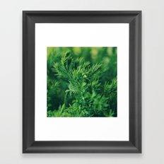Dreaming in green Framed Art Print