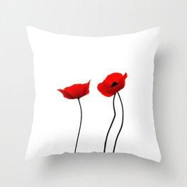 Simply poppies Throw Pillow