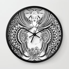 Yoga Girl Wall Clock