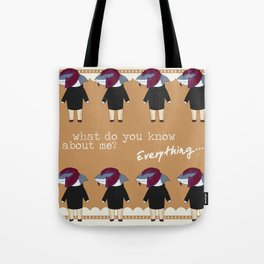 What do you know about me? Tote Bag