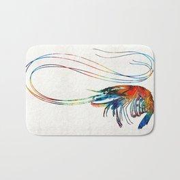 Colorful Shrimp Art by Sharon Cummings Bath Mat