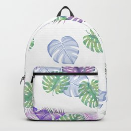 Tropical Spring Leaves (water colour) Backpack
