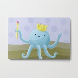 King Octopus - Kid's Print Metal Print