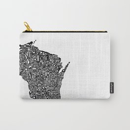 Typographic Wisconsin Carry-All Pouch