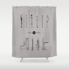 US AND THEM Shower Curtain