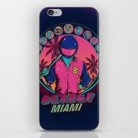 hotline miami iPhone & iPod Skins featuring Deadly Miami by Donnie