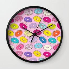 Donuts Pink Dreams Wall Clock