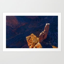 Photo USA Arizona Spider Rock Canyon de Chelly National Monument Crag Nature Parks Cliff canyons park Art Print