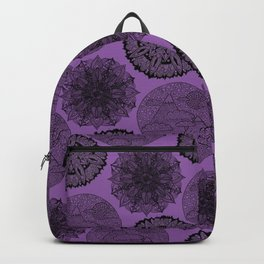 Purple Zen Pattern Backpack