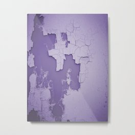 Damaged wall pic in background with purple color, ready for clothes,furnitures, iphone cases Metal Print